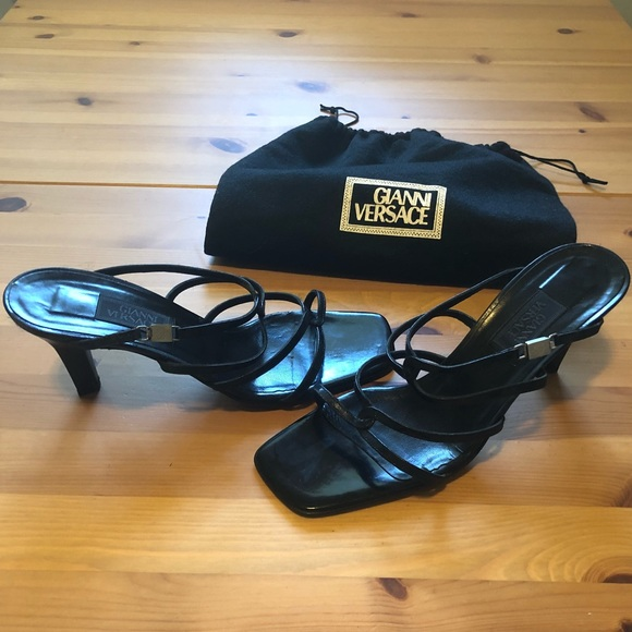 Versace Shoes - Authentic Gianni Versace Medusa Head Strappy Heel